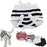 Dog Diapers Pants, HP95(TM) 2015 Hot! Comfortable Cosy Pet Dog Cotton Tighten Strap Sanitary Physiological Pants, Pet Underwear Diapers, Small,Medium, Large, X-Large Size (M, C)
