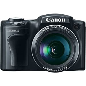 Canon PowerShot SX500 IS 16.0 MP Digital Camera with 30x Wide-Angle Optical Image Stabilized Zoom and 3.0-Inch LCD (Black) OLD MODEL