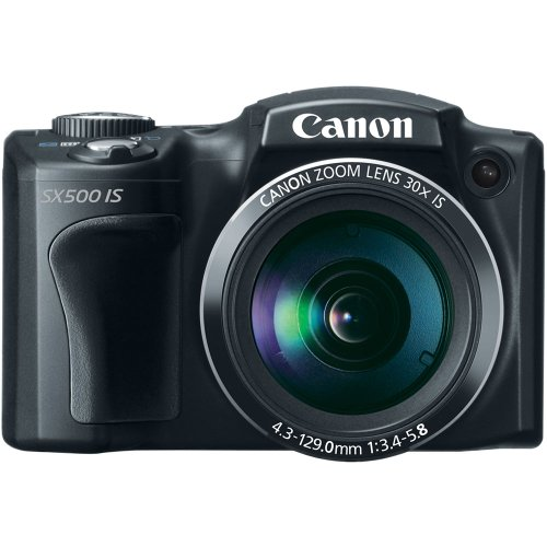 Canon PowerShot SX500 IS 16.0 MP Digital Camera with 30x Wide-Angle Optical Image Stabilized Zoom and 3.0-Inch LCD (Black)