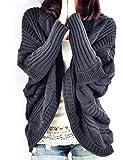 Petite Main Femme Vintage Pulls Manches Chauve-souris Cardigan Gilets Tops...