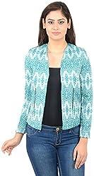 MERCH21 Women's Slim Fit Coat( MERCH0064, Green, XS)