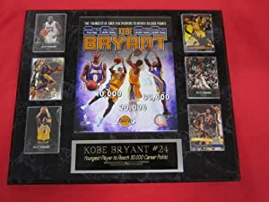 Kobe Bryant Los Angeles Lakers 6 Card Collector Plaque w 8x10 Photo by J & C Baseball Clubhouse