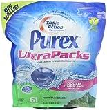 Purex Ultra Packs Liquid Laundry Detergent, Mountain Breeze, 36.6 fl Oz , 61 Count