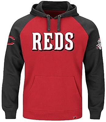 "Cincinnati Reds Majestic MLB ""Cunning Play"" Men's Hooded Sweatshirt - Red"