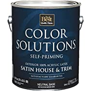 Color Solutions Latex Satin Self-Priming Exterior House And Trim Paint-EXT SAT N
