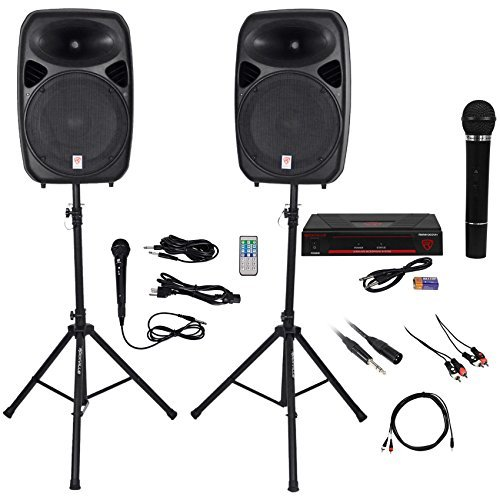 "Read About Rockville Dual 15"" iphone/ipad/Android/Laptop/TV Youtube Karaoke Machine/System"