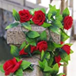 2X 2.5m Artificial Flower Silk Rose I...