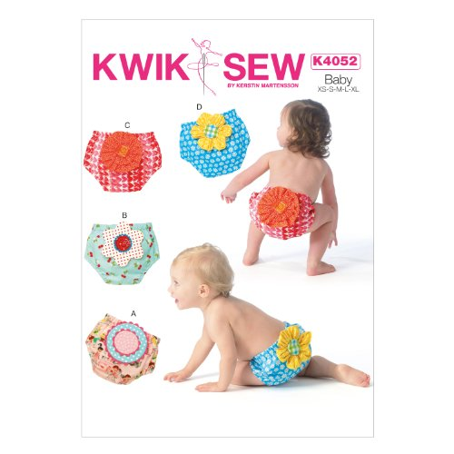 Kwik-Sew Patterns K4052 Baby Diaper Covers, All Sizes