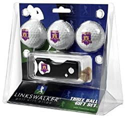 Weber State Wildcats 3 Golf Ball Gift Pack w/ Spring Action Tool - NCAA College Athletics