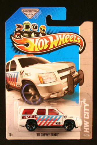 Hot Wheels 2013 Hw City '07 Chevy Tahoe White - 1