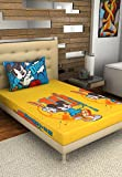 Bombay Dyeing Disney Classic Single Bedsheet with 1 Pillow Cover - Blue and Yellow