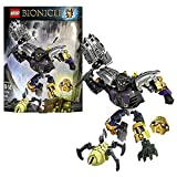 Lego Year 2015 Bionicle Series 8 Inch Tall Figure Set #70789 Onua Master Of Earth With 4 Golden Shells, Tribal...