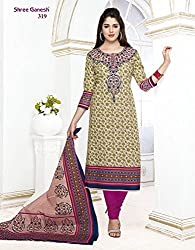 Nidhifabrics Women Cotton Dress Material (Sgp319_Ab _Green _N/A)