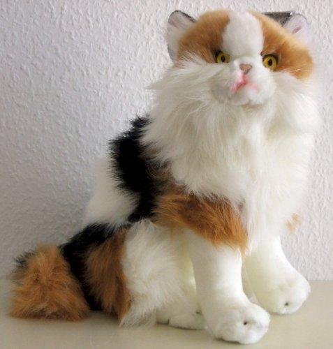 sitzende 3-farbige Katze Calico 35 cm, von Luigi
