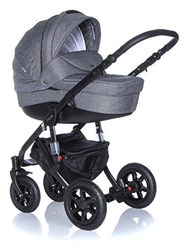 Baby-Pram-Pushchair-Stroller-Buggy-Travel-System-Adamex-Barletta-20Lc-3in1