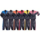 Motorcycle Rain Gear - Two Piece Motorcycle Rain Suit RS5001 L Blue