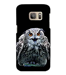 printtech Owl Nature Look Eyes Back Case Cover for Samsung Galaxy S7 :: Samsung Galaxy S7 Duos with dual-SIM card slots