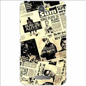 Sony Xperia E4 Back Cover - Newspaper Designer Cases