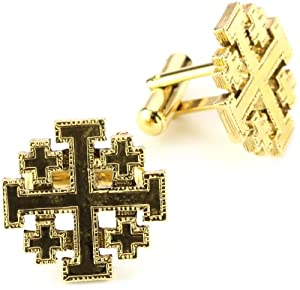 The Vatican Library Collection Men's Gold-Tone Jerusalem Cross Cufflinks