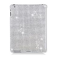 Hard Plastic Diamante Silver Tablet Protector For Apple IPad 2 / IPad 3 / IPad 4