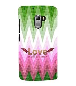 EPICCASE love is all u need Mobile Back Case Cover For Lenovo Vibe K4 Note (Designer Case)