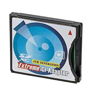 Adorama Secure Digital (SD or SDHC) to CompactFlash Memory Card Adapter..4th generation Type II