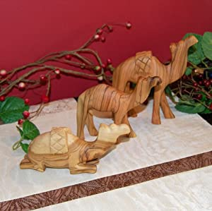 From The Earth Hand Carved Olive Wood Three Camel Set - Matte Finish at Sears.com