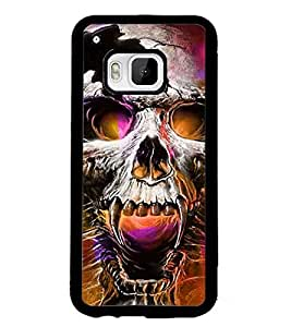 PrintDhaba Skull D-2801 Back Case Cover for HTC ONE M9S (Multi-Coloured)