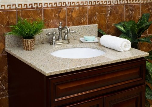 Vanity Top with Back Splash Finish: Wheat