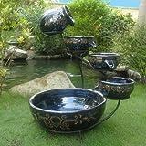 Smart Solar 23951R01 Blue Midnight Finish Imperial Ceramic Solar Cascade