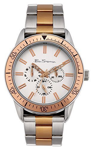 Ben Sherman R690 Gents Round Case Stainless Steel Bracelet Multi Dial Watch with Rose Gold Design