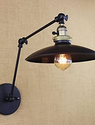 SSBY American Minimalist Industrial Iron Long Arm Wall Lamp With Switch