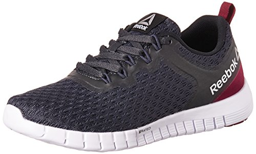 Reebok Zquick Lite, Scarpe Sportive Outdoor Donna, Nero (Smokey Black/Rebel Berry/Black/White), 38 EU