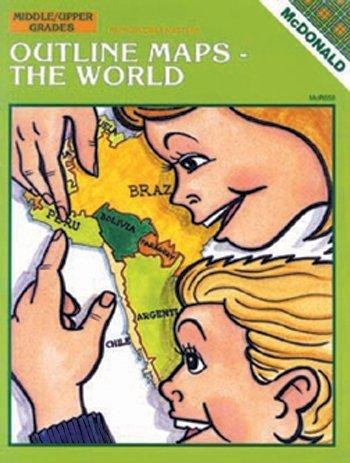 Mcdonald Publishing Mc-r658 Outline Maps The World