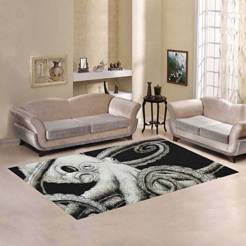 Love-Nature-Sweet-Home-Modern-Collection-Custom-Octopus-Area-Rug-7×5-Indoor-Soft-Carpet