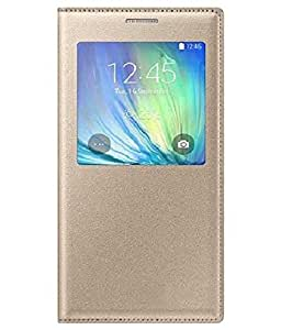 Flip Cover For Samsung Galaxy ON7-Gold With Free Key Ring