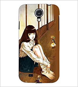 PrintDhaba Cute Girl D-4675 Back Case Cover for SAMSUNG GALAXY S4 (Multi-Coloured)