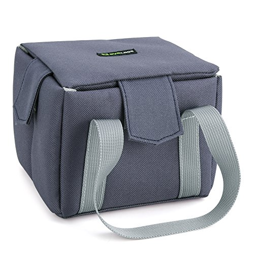 Camera Inner Bag, Evecase Shockproof Partition Padded DSLR Camera Insert Bag Camera Inner Case For Nikon Canon Sony Pentax Fuji Olympus Samsung - Blue-Grey / X-Small (Padded Camera Insert Small compare prices)