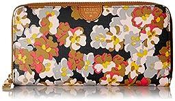 Fossil Sydney Zip Wallet, Dark Floral, One Size