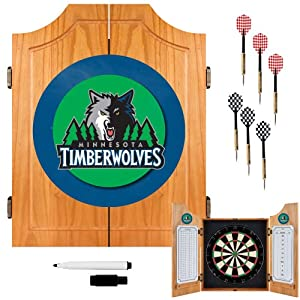 NBA Minnesota Timberwolves Wood Dart Cabinet Set