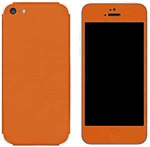 Slickwraps Leather Collection Protective Film for iPhone 5c - Orange - Skin - Retail Packaging - Orange