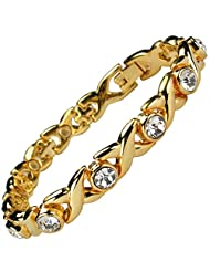 MPS LADIES MAGNETIC BRACELET WITH WHITE CRYSTALS (#BRAS-31-2XL-MJ)