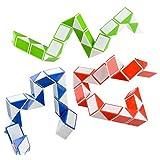 Neliblu Sensory Fidget Snake Cube Twist Puzzle, Set of 3