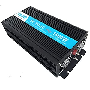 Reliable Off Grid 1500W Pure Sine Wave Inverter 12VDC to 220VAC Converter USA Standard socket type Home Inverter (Black) by Yueqing Reliable Electric Co., Ltd