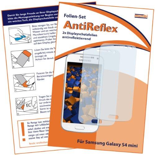 2x mumbi Displayschutzfolie Samsung Galaxy S4 mini Schutzfolie AntiReflex matt MATT matt MATT