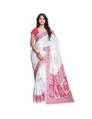 Janasya Women's Cotton Silk Printed Saree (JNE0779_Red)