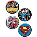 "Licenses Products DC Comics Superman Assorted Artworks 1.25"" Button Set, 4-Piece"