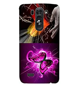ColourCraft Heart and Butterfly Design Back Case Cover for LG D722K