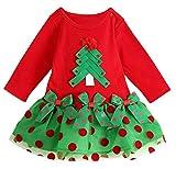 Nice Days(ナイス ディズ) クリスマス 女の子ドレス 長袖スカート 可愛いツリー (80)