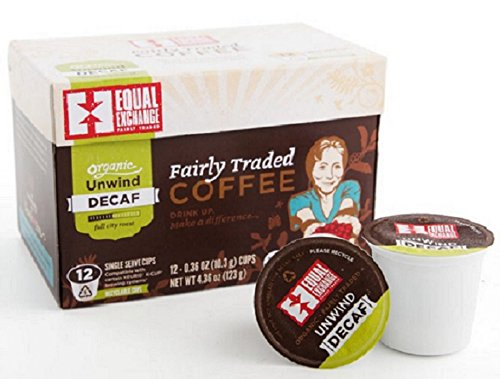 Equal Exchange Organic Decaf Unwind Blend Single Serve Cups, 4.36 Ounce (Pack Of 12)